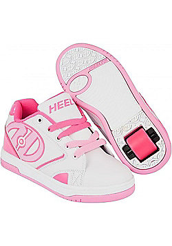 Heelys Propel 2.0 White/Hot Pink/Light Pink Kids Heely Shoe UK 1