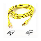 Belkin Cat5e 2m Patch Cable Moulded Snagless Strain Relief Yellow