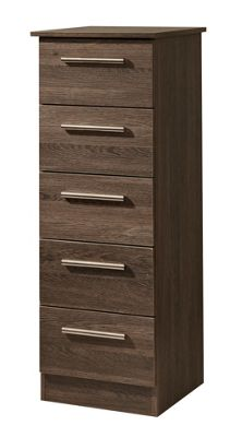 Welcome Furniture Contrast 5 Drawer Chest - Vanilla