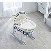 Kinder Valley Showered With Love Grey Wicker Moses Basket