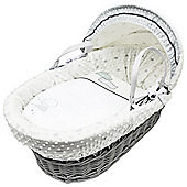 Daisy Boo Showered With Love Grey Wicker Moses