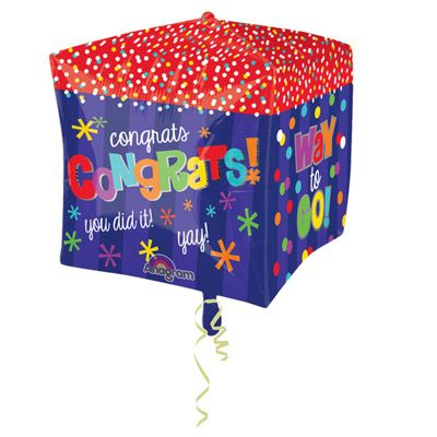 Cubez Way To Go Congratulations Balloon - 24 inch Foil