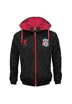 Liverpool FC Mens Shower Jacket - Black