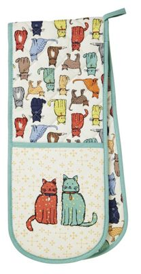 Ulster Weavers Cat Walk Design Double Oven Glove 7CWK03