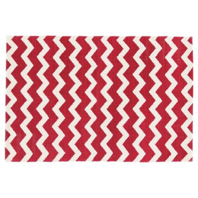 Tesco Chevron Rug Red 60x90cm From