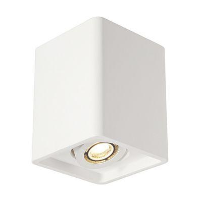 Plastra Box 1 Ceiling Light Square White Plaster Max. 35W