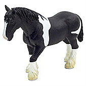 Black & White Clydesdale Horse Figurine Toy by Animal Planet