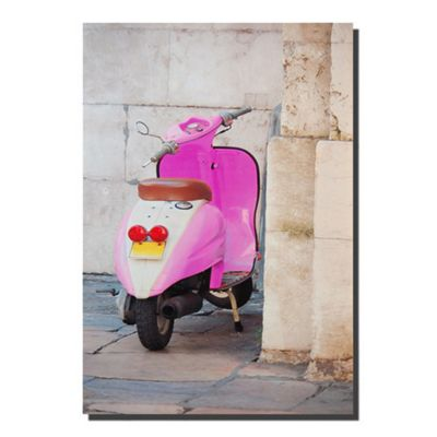 Novus Imports Pink Scooter Canvas Print