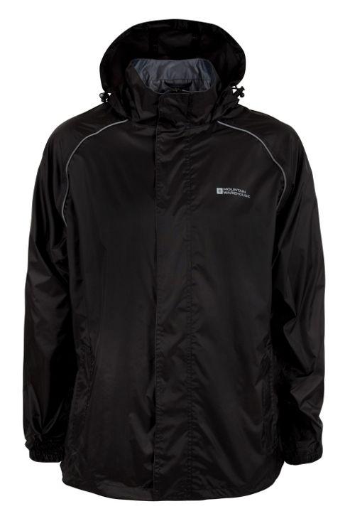 Mens Pakka Jacket Taped Seams Waterproof Fold Pack Away Rain Coat