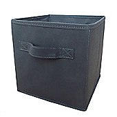 Russel Fabric Folding Storage Box, Grey 25CM