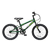 "Concept Raptor 18"" Wheel Boys BMX Bike Green and Black"