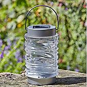 Solar Powered Wave Glass Lantern
