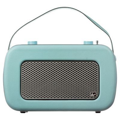 buy kitsound jive retro dab radio duck egg blue from our portable radio range tesco. Black Bedroom Furniture Sets. Home Design Ideas