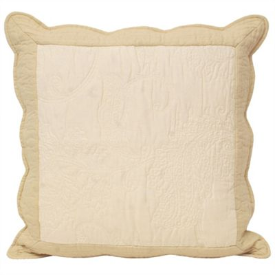 Riva Home Fayence Ivory & Taupe Cushion Cover - 45x45cm