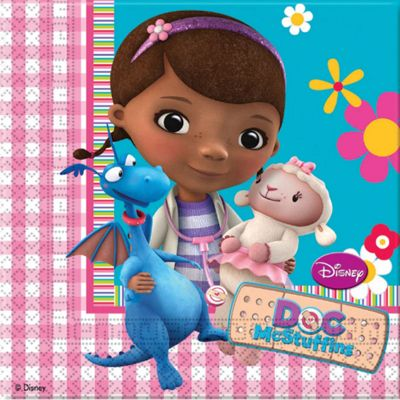 Doc McStuffins Party Paper Luncheon Napkins 2ply - 20 Pack