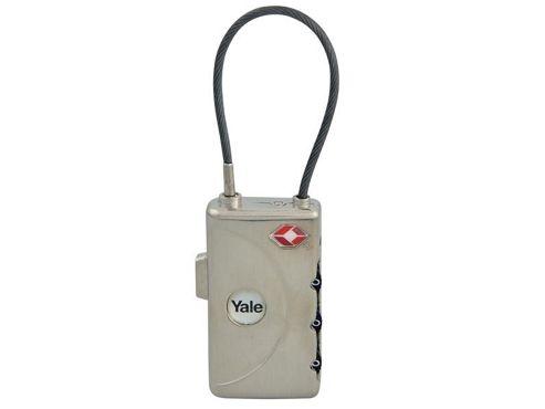 Yale Locks YALYTL130 TSA Combi Lock with ID Tag Soft Shackle