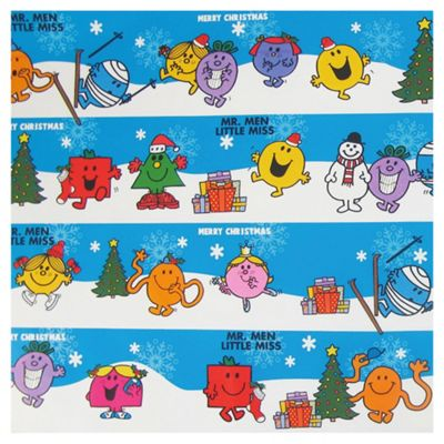 Mr Men Christmas Wrapping Paper, 6m