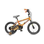 "Concept Energy 16"" Wheel Kids Bike Single Speed Stabilisers Orange"