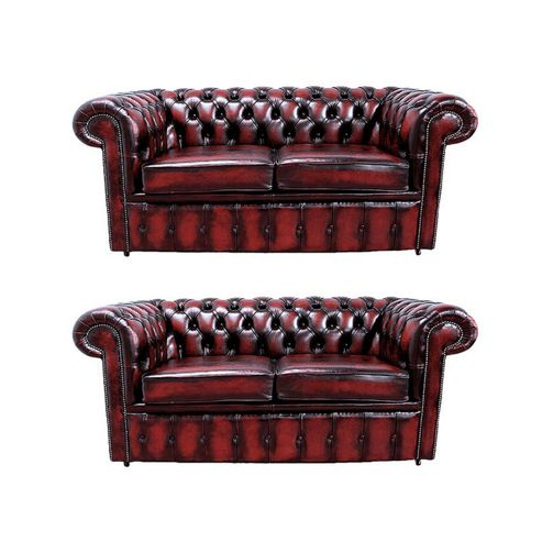 Buy Chesterfield 2 2 Leather Sofa Antique Oxblood From Our