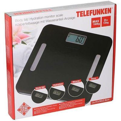 Telefunken Black el Digital Weight and Bodyfat Bathroom Scales
