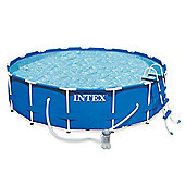 "Intex Metal Frame Pool Package 15ft x 48"" - 28236"