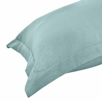 Homescapes Duck Egg Blue Organic Cotton Oxford Pillow Case 400 TC