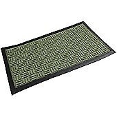 Green, Firth Tile Indoor Mat - 40 x 70 cm