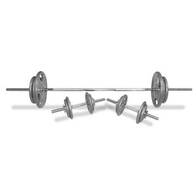 Body Power 71Kg 6FT Tri-Grip Spinlock Weight Set