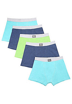 F&F 5 Pack of Marl Jersey Trunks with As New Technology - Multi