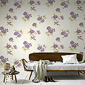 Graham & Brown Rome Wallpaper - Plum