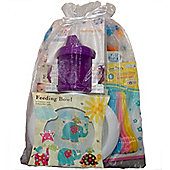 Baby Feeding Weaning 5 piece Gift Set Purple Cup