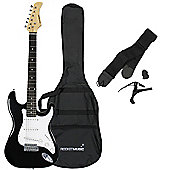 Rocket Full Size Electric Guitar in Black – with 6 Months Free Online Music Lessons