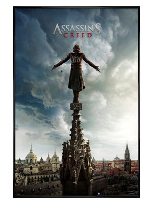 Assassin's Creed Gloss Black Framed Spire Teaser Poster 61x91.5cm