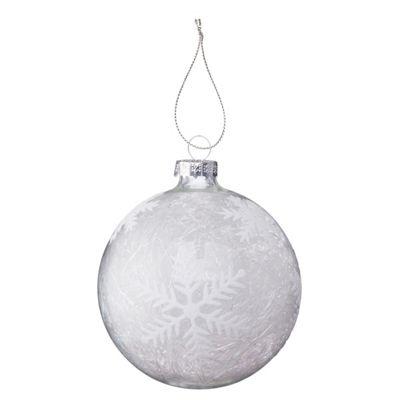 Spun Glass Snowflake Christmas Bauble