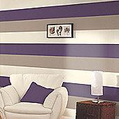 Stripe Wallpaper - Purple / Coffee / Cream - E40936