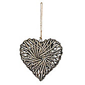 Grey Willow Heart - Small