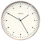 Jones Attic Brush Copper Wall Clock