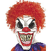 Halloween Clown Mask - Scary with Hair