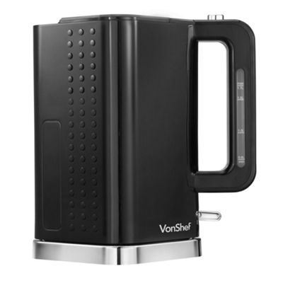 VonShef Kettle 1.7L - Black