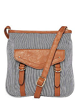 F&F Striped Canvas Cross-Body Bag