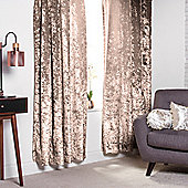 "Truffle Crushed Velvet Heavyweight Curtains 90"" x 90"""