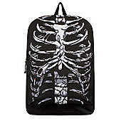 Black & White Ribcage Backpack 32x42x11cm