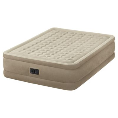 Intex Dura Beam Raised Pillow Top King Size Air Bed With Pump