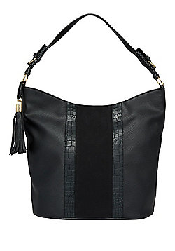 F&F Croc Effect Panel Hobo Bag