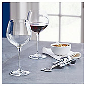 Fox & Ivy Crystal Glass Pack of 4 Red Wine Glasses