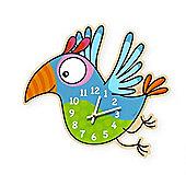 Barnabou Serie Golo Childs Kids Wall Clock Horloge Perroquet Parrot HOR003