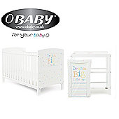 Obaby Grace Inspire 2 Piece Room Set and Changing Mat - Dream Big Little One