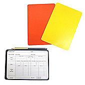 Referee Cards Wallet Inc. Red & Yellow Card - Notepad - Pencil