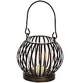 Cage - Metal Basket Tea Light Holder - Dark Brown