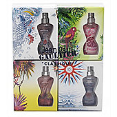Jean Paul Gaultier Classique Summer Gift Set 4 x 3.5ml EDT Mini For Women